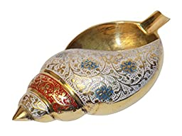 HOLI DHAMAKA SALE ASHTRAY/PAPER WEIGHT Crafts\'man Vintage Style Antique Looking Conch / Shankh ...