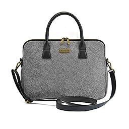 Nasis unisex felt protective handbag with shoulder strip for ipad air and tablet PC AL3023 (15.4 zoll)