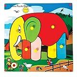 Skillofun Skillofun Theme Puzzle Standard Elephant Knobs Multi Color