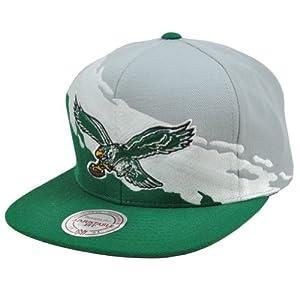 Mitchell & Ness Philadelphia Eagles Paintbrush Snapback Cap Hat M&N ND50Z by Mitchell & Ness