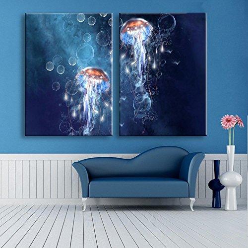 coloree-la-pintura-decorativa-sin-marco-de-la-pintura-de-las-medusas-de-la-impresion-de-la-lona-y-la
