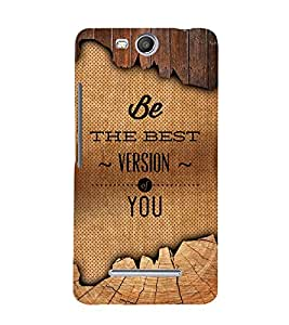 Be The Best Version Of U 3D Hard Polycarbonate Designer Back Case Cover for Micromax Canvas Juice 3 Q392