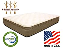 Hot Sale Brentwood Finale 11-Inch Quilted Eurotop Inner Spring Mattress, Made in the USA, King Size