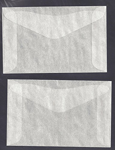 "100 #2 Glassine Envelopes measuring 2 5/16"" x 3 5/8"""