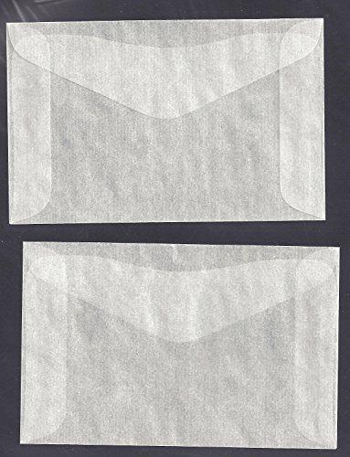 "100 #2 Glassine Envelopes measuring 2 5/16"" x 3 5/8"" - 1"