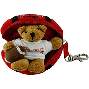 NCAA Arkansas Razorbacks Hidden Plush Bear Football Keychain
