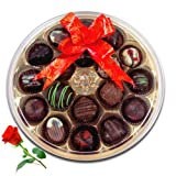 Superb Taste Of Love Chocolates With Red Rose - Chocholik Belgium Chocolates