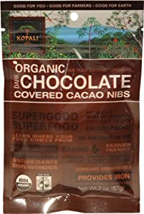 Kopali Organics Chocolate Cacao Nibs, 2-Ounce Pouches (Pack of 6)