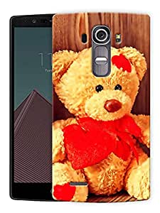 "Teddy Cute Sitting Printed Designer Mobile Back Cover For ""LG G4"" By Humor Gang (3D, Matte Finish, Premium Quality, Protective Snap On Slim Hard Phone Case, Multi Color)"