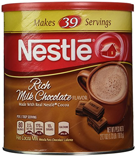 Nestle Hot Cocoa Mix, Rich Milk Chocolate (39 Servings), 27.7-Ounce Canisters (Pack of 3) Review