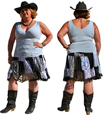 Mish Mash Western Cowgirl Skirt by BBW Boutique at Amazon Women's
