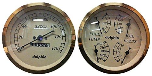 "Dolphin Gauges 5/"" quad GPS Street Rod Gauge Set"