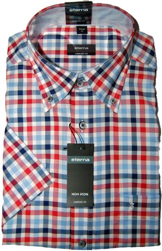 Eterna Casual Shirt 2226 Red (XXXX Large)