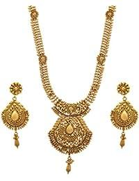 JFL - Elegantly Charming One Gram Gold Plated Designer Necklace / Jewellery Set For Women