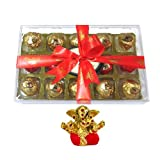 Chocholik Luxury Chocolates - Tempting Delightful 15pc Truffle Collection With Small Ganesha Idol - Diwali Gifts
