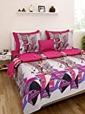 Homefab India Luxury 3D Double BedSheet with 2 Pillow Covers