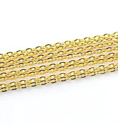 ILOVEDIY 5m/lot Gold Plated Chains Findings for Jewelry Making