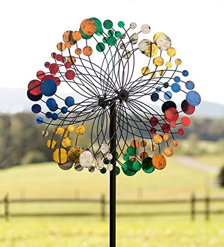 Garden Wind Spinner Kinetic Metal Yard Sculpture Landscape