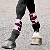 Equisafety Boots Horse Leg Wraps - High Viz Pink, One Size