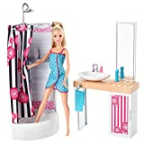Barbie Doll And Bathroom Furniture Set, Multi Color
