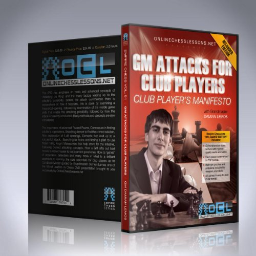 Gm Attacks For Club Players - Gm Damian Lemos - Empire Chess Vol. 51