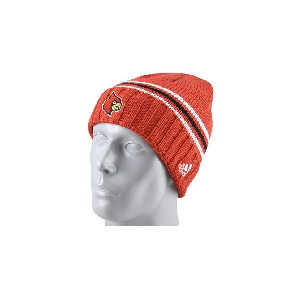 adidas Louisville Cardinals Red Watch Cuffed Knit Beanie