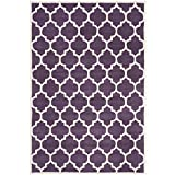 Safavieh Chatham Collection CHT734F Handmade Wool Area Rug, 5-Feet by 8-Feet, Purple and Ivory