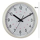 Acctim 21162 Metro 12-inch Wall Clock, White