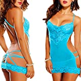 Lady Girls Charming Lace Lingerie Babydoll Underwear Nightwear G-string Set Red