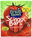 Fruitbowl Strawberry School Bars MultiPack 20 g (Pack of 12, Total 60 Bars)