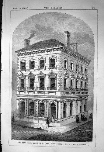 old-original-antique-victorian-print-union-bank-halifax-nova-scotia-thomas-architecture-1863-builder