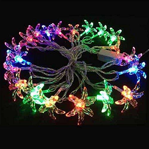 Generic Outdoor String Light Six Leaf Grass Bulbs 4M 20 Led Festival Decoration
