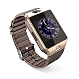PELTEC@ Bluetooth Smart Watch Armband Handy Uhr für Android, Iphone iOS , Smartwatch Smartphone SIM Armbanduhr Kamera goldfarben - Best Reviews Guide