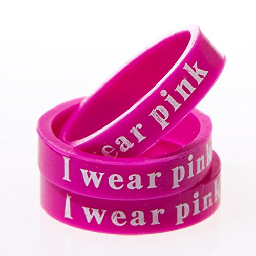 """I Wear Pink"" Band Rings"