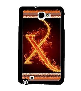 Printvisa 2D Printed Alphabet X Designer back case cover for Samsung Galaxy Note 1 - D4214