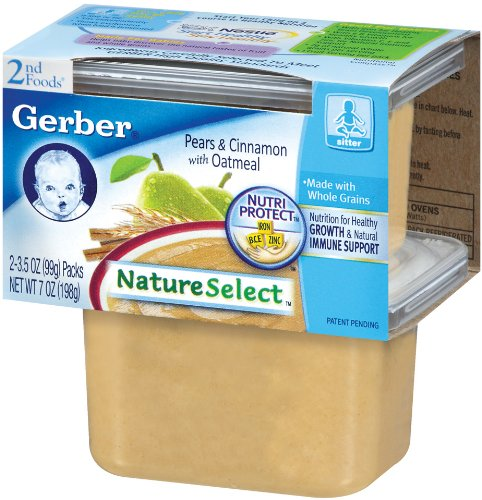 Gerber 2nd Foods NatureSelect, Cinnamon Oatmeal & Pears, 7 oz - 1