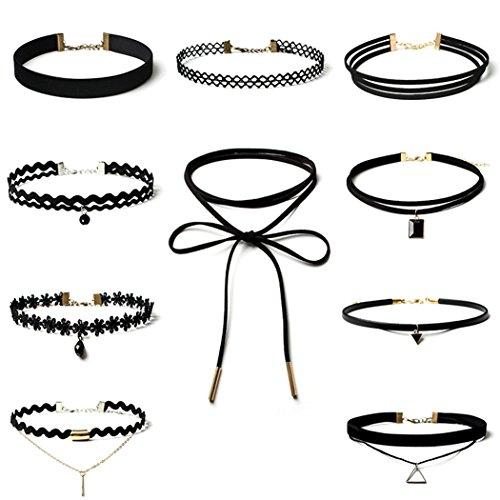 elegant-rose-collier-halskette-set-gothic-tattoo-spitze-choker-ketten-stretch-samt-classic-schwarz-1