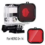 Red Filter Gopro,Filter For GoPro Hero3+ and Hero4,Underwater Dive Red Switchable Lens Filter Standard Housing Scuba Accessory for GoPro Hero4 and Hero3+ Cameras (For Hero 4/Hero 3+ Camera-B)