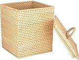 Agus Cane Wire Laundry Basket (20 cm x 20 cm x 24 cm , Beige)
