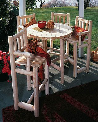 Bistro Set - 5 Piece (Natural) (Sizes Vary)