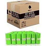 Gorilla Supply 1000 Green Dog Pet Poop Bags, EPI Technology, 50 Refill Rolls