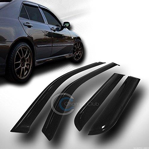 SUN/RAIN GUARD SMOKE VENT SHADE DEFLECTOR WINDOW VISORS V2 01-07 FORD ESCAPE SUV (Ford Escape Rear Window Shades compare prices)