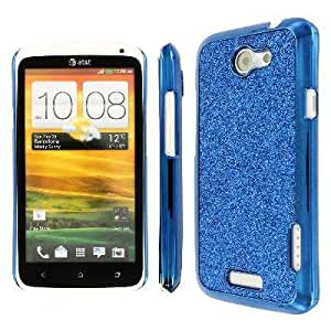 MPERO Collection HTC One X Blue Sparkling Glitter Slim-fit Glam Case