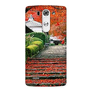 Delighted Stairs Garden Multicolor Back Case Cover for LG G3 Mini