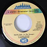 LIGHTHOUSE 45 RPM HATS OFF TO THE STRANGER / SING, SING, SING