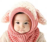 【超あったか】 ベビー キッズ かわいい ニット帽 赤ちゃん ネックウォーマー 防寒 ウサギ ふわふわ プレゼント 仮装 宴会 パーティー 誕生日 出産祝い (ピンク) ランキングお取り寄せ