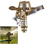 Generic New V1NF 1/2 Inch Connector Copper Rotate Rocker Arm Water Sprinkler Spray Nozzle Garden Irrigation Sprinkler