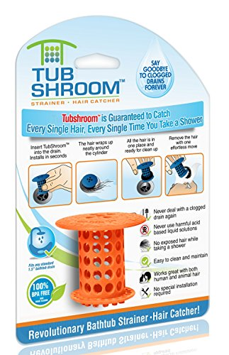 tubshroom-the-revolutionary-tub-drain-protector-hair-catcher-strainer-snare-orange