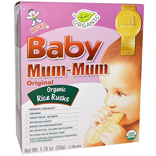 Hot Kid Baby Mum Mum Organic Rice Rusk, Original, 1.76 oz (Mum Baby Food compare prices)
