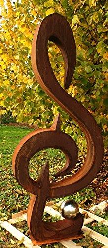 Gartendeko-Rostsule-Skulptur-Musik